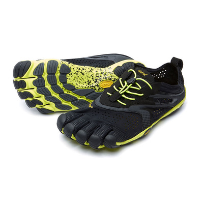 FIVE FINGERS - V-RUN - Zapatilla de running hombre black/yellow