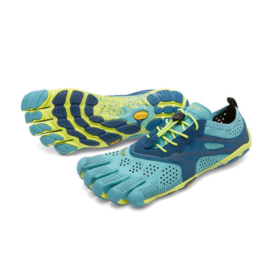 FIVE FINGERS - V-RUN - Zapatillas de running mujer turquoise/marine/yellow