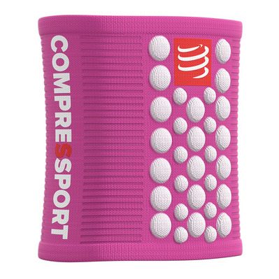 COMPRESSPORT - SWEATBANDS 3D.DOTS - Polsini in spugna pink/white