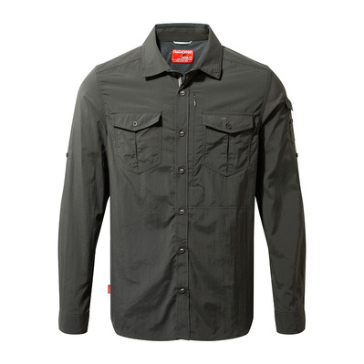 CRAGHOPPERS - ADVENTURE - Camisa hombre black pepper