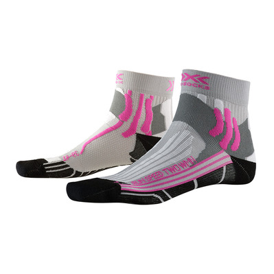 X-SOCKS - RUN SPEED 2 - Socks - Women's - grey/fucshia/black