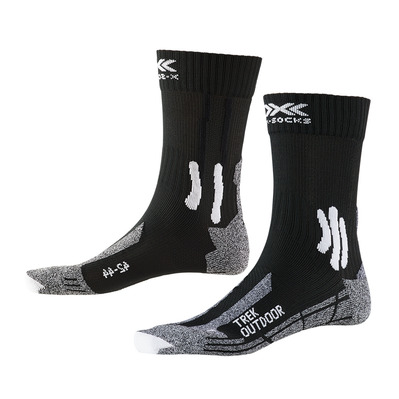 X-SOCKS - TREK OUTDOOR - Calcetines negro/gris