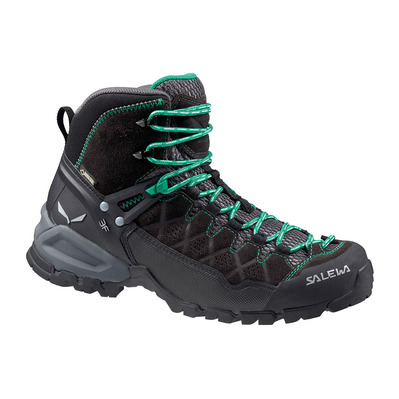 SALEWA - ALP TRAINER MID GTX - Hiking Shoes - Women's - black out/agata