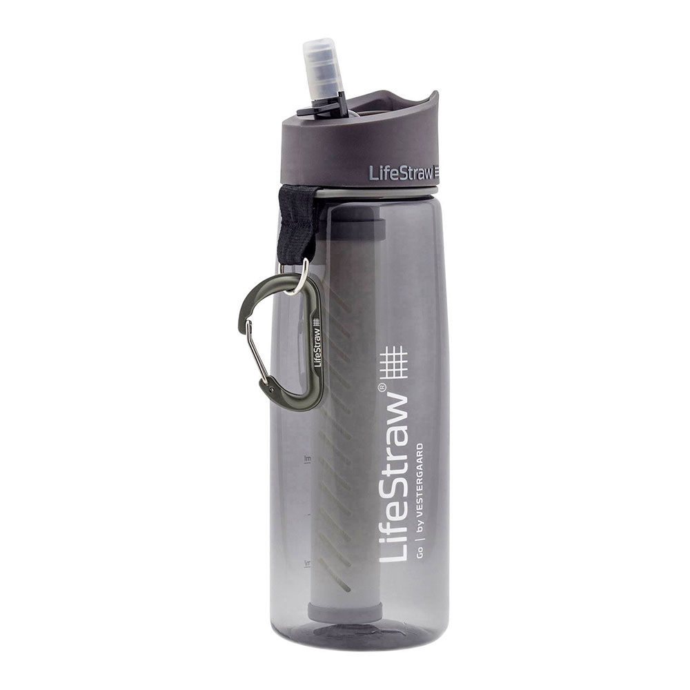 LIFESTRAW - Life Straw GO 2 STAGES - Botella filtrante grey