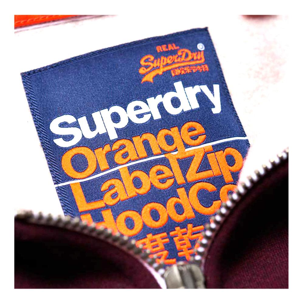 TOTAL EQUITATION Superdry ORANGE LABEL Sweat zippé à