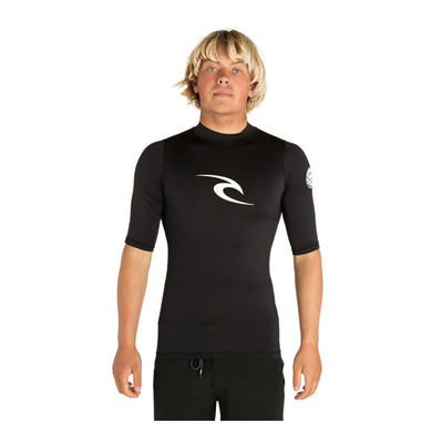 RIP CURL - 3/4 Sleeve Rashguard - Men's - CORPO S/SL UV black