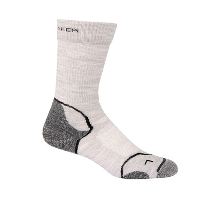 ICEBREAKER - HIKE+ LIGHT CREW - Chaussettes Femme blizzard hthr/white/oil