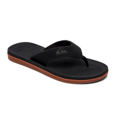 QUIKSILVER - HALEIWA PLUS - Tongs Homme black/black/brown