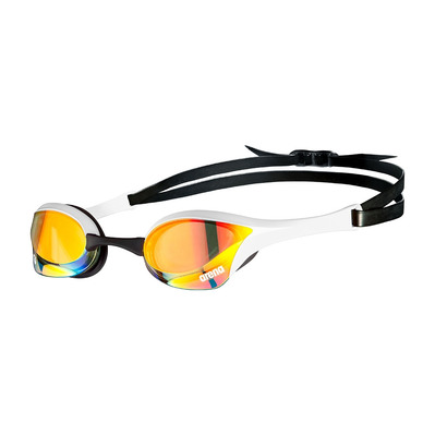 ARENA - COBRA ULTRA SWIM MIRROR - Lunettes de natation yellow copper/white