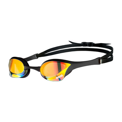 ARENA - COBRA ULTRA SWIPE MIRROR - Swimming Goggles - yellow copper/black