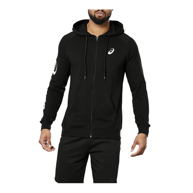 ASICS - BIG ASICS FZ HOODIE PERFORMANCE BLACK/BRILLIANT WHITE Homme