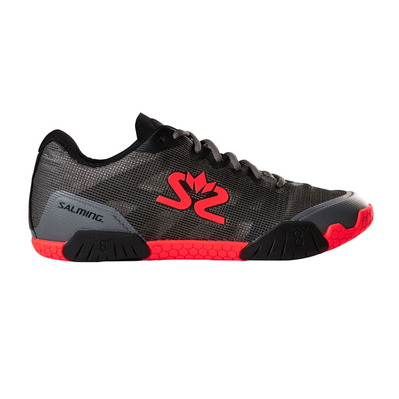 SALMING - HAWK - Chaussures hand Homme gunmetal/rouge