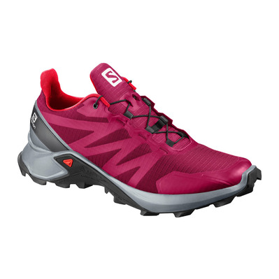 SALOMON - SUPERCROSS - Zapatillas de trail mujer cerise./pearl blue/fiery cor