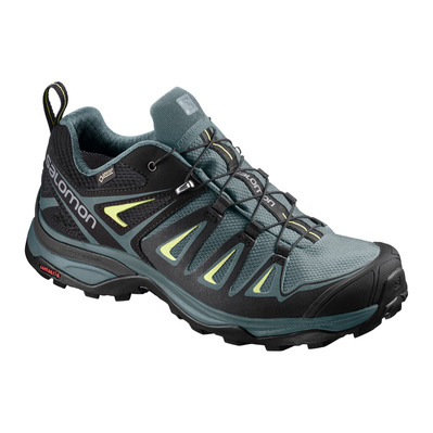 SALOMON - X ULTRA 3 GTX - Zapatillas de senderismo mujer artic/darkest spruce/snny lime