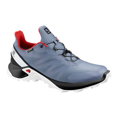 SALOMON - SUPERCROSS GTX - Zapatillas de trail hombre flint/black/high risk red