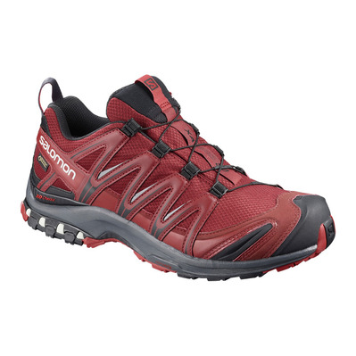 SALOMON - XA PRO 3D GTX - Trail Shoes - Men's - syrah/ebony/rd dahlia