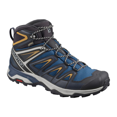 SALOMON - X ULTRA 3 MID GTX - Hiking Shoes - Men's - sargasso sea/dark sapphire/bistre