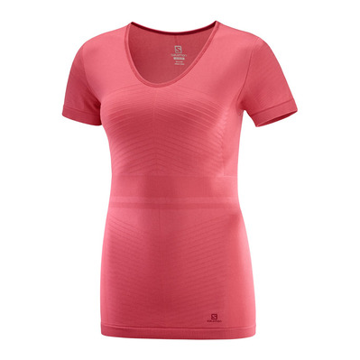 SALOMON - ELEVATE MOVE'ON - Maglia termica Donna garnet rose