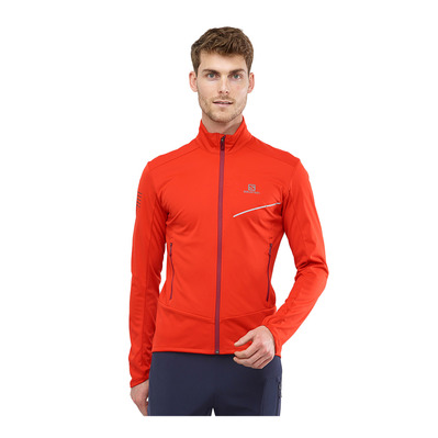 SALOMON - RS SOFTSHELL - Jacket - Men's - fiery red/biking re