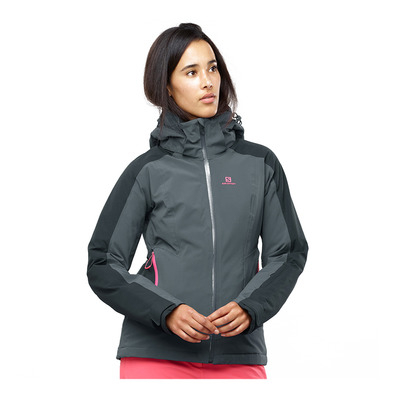 SALOMON - BRILLIANT - Chaqueta de esquí mujer ebony/black