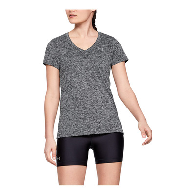 UNDER ARMOUR - TWIST - T-shirt Donna black/metallic silver