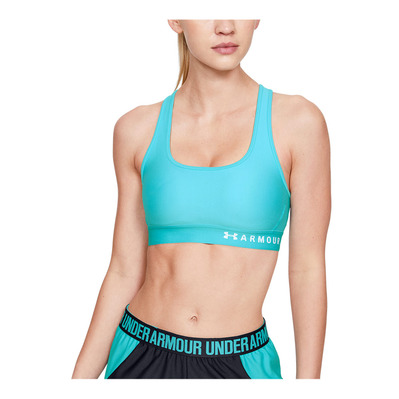 UNDER ARMOUR - ARMOUR MID CROSSBACK - Brassière Femme breathtaking blue