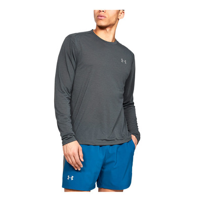 UNDER ARMOUR - UA STREAKER 2.0 LONGSLEEVE-GRY Homme Pitch Gray1326584-012