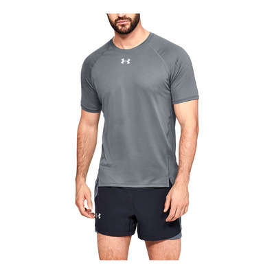 UNDER ARMOUR - UA QUALIFIER SHORTSLEEVE-GRY Homme Pitch Gray1326587-012