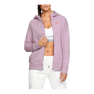UNDER ARMOUR - RIVAL FLEECE SPORTSTYLE LC SLEEVE GRAPHI Femme Pink Fog1348559-694