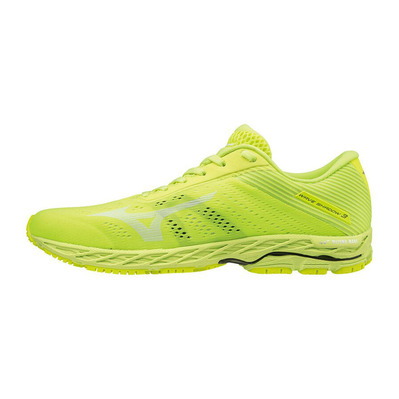 MIZUNO - WAVE SHADOW 3 - Chaussures running Homme syellow/wht/safetyyellow