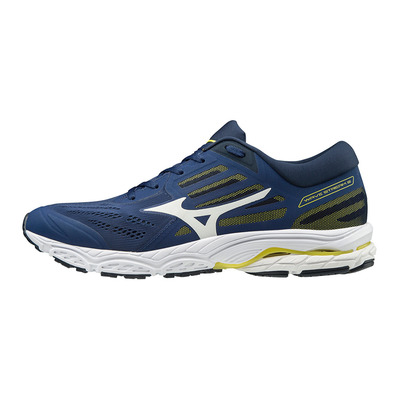MIZUNO - WAVE STREAM 2 - Chaussures running Homme eblue/wht/dressblues