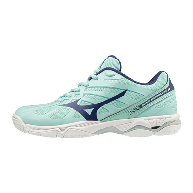 MIZUNO - WAVE HURRICANE 3 - Chaussures volley Femme blight/astralaura/bturqu