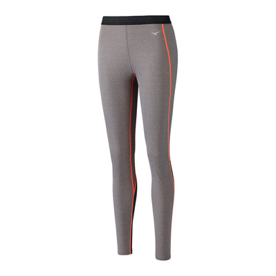 MIZUNO - Wool Long Tight Femme FineGrey/F.Coral