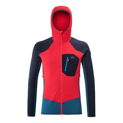 MILLET - TRILOGY DUAL WOOL HOODIE - Fleece - Men's - indian/rouge