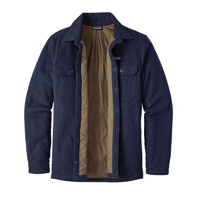 Patagonia INSULATED FJORD FLANNEL Veste Homme navy blue