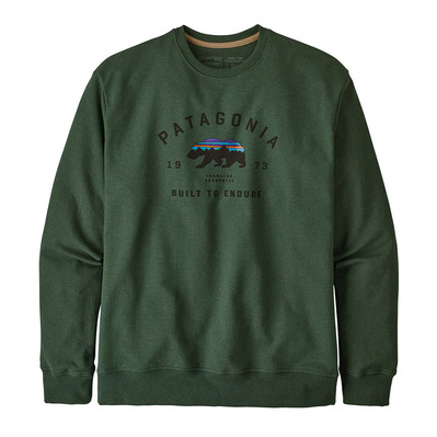 PATAGONIA - ARCHED FITZ ROY BEAR UPRISAL CREW - Sweat Homme alder green