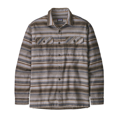 PATAGONIA - FJORD FLANNEL - Camisa hombre folk dobby/bristle brown