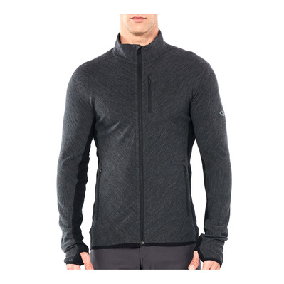 ICEBREAKER - DESCENDER - Jacket - Men's - jet hthr/black