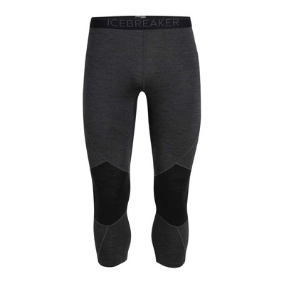 ICEBREAKER - 260 ZONE - 3/4 Leggings - Men's - jet hthr/black
