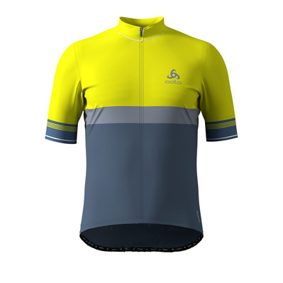 ODLO - FUJIN CERAM - Maillot Homme safety yellow/bering sea