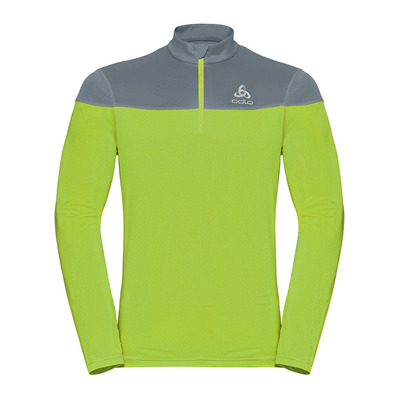 ODLO - CERAMIWARM ELEMENT - Sweat Homme safety yellow/bering sea