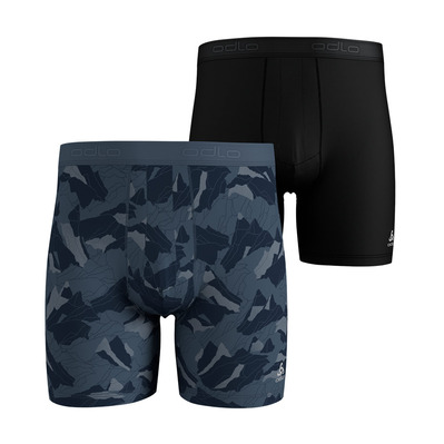 ODLO - SUMMER SPLASH 2 - Boxers x2 hombre bering sea/mountain camo/black
