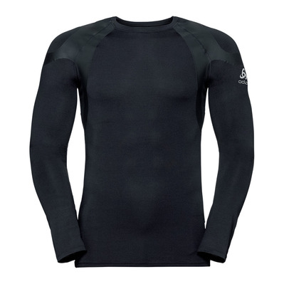 ODLO - T-shirt ML ACTIVE SPINE WARM LIGHT Homme black