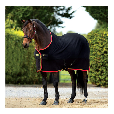 HORSEWARE - RAMBO SOFTY FLEECE - Coperta pile black/gold