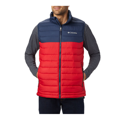 COLUMBIA - M Powder Lite Vest-Mountain Red, C Homme Mountain Red, Collegiate Navy