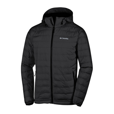 COLUMBIA - Powder Lite Hooded Jkt-Black Homme Black