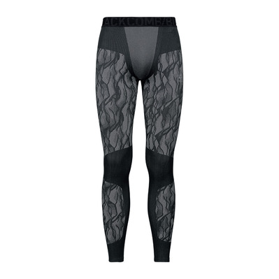 ODLO - BLACKCOMB - Mallas largas hombre black/odlo steel grey/silver