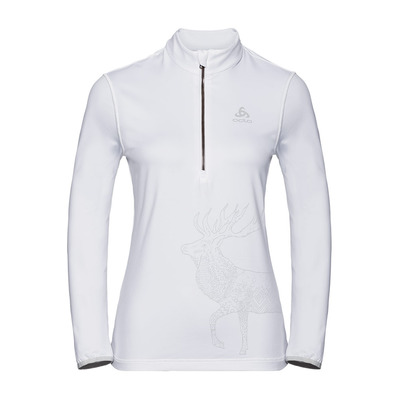 ODLO - TRAFOI - Sweat Femme white/placed print