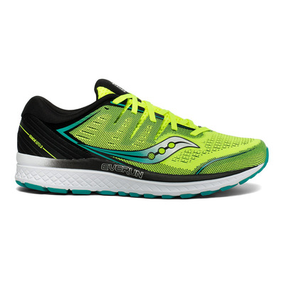 SAUCONY - GUIDE ISO 2 - Chaussures running Homme citron/black