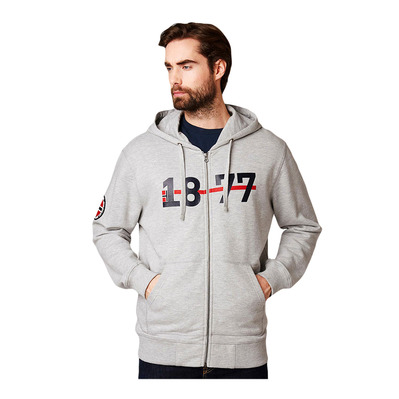 HELLY HANSEN - 1877 FZ HOODIE - Sweatshirt - Men's - grey marl